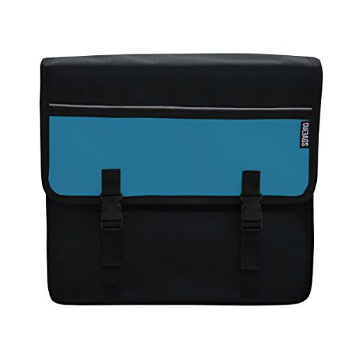 C-BAGS BAGGY double 520.002 black-blue Gepäckträger Fahrradtasche Tasche