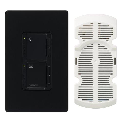 Lutron MA-LFQHW-BL Maestro 1-Amp 300-watt Single Pole Fan and Light Control, Black (Maestro 300w Single Pole)