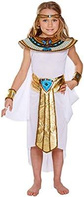 para niños niñas 5 Piezas Blanco Cleopatra Egipcio faraón Historia ...