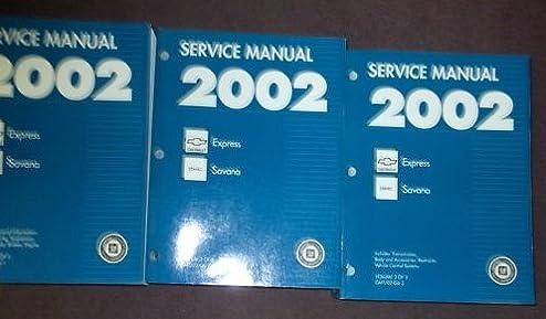 2002 chevy express gmc savana g van service manual set 3 volume rh amazon com