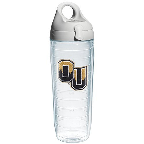 Tervis Oakland University Emblem Individual Water Bottle with Gray Lid, 24 oz, (Oakland Athletics Water)