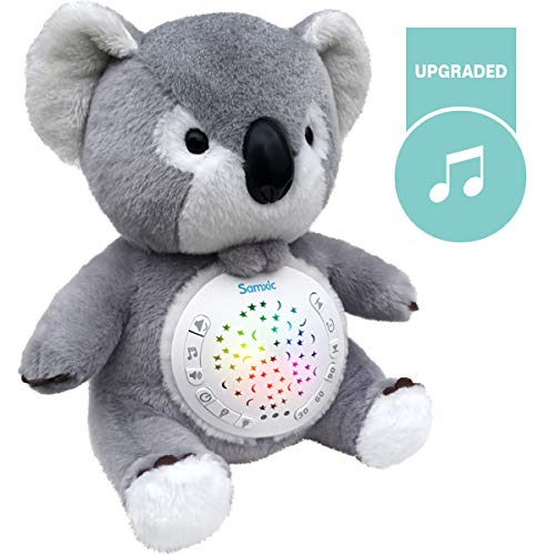 Samxic Baby Gift   Baby Sleep Soother, Nursery Plush Koala & Sound Soother for Baby with 12 Sleep Aid Sounds & Glow Projection, Auto-Off Timer ()