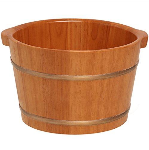 Wooden Foot Tub By Sauna Footbath Oak Foot Bath Health Barrel (Size: 382418Cm),A