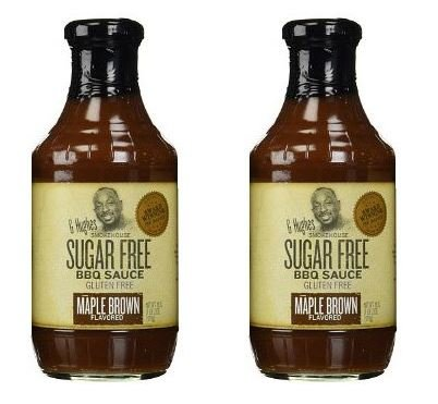 G Hughes BBQ Sauce SugarFree Maple Brown 18 oz (Pack of 2) ()