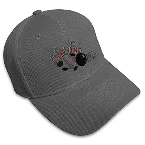 Baseball Cap Sport Bowling Ball Splash B Embroidery Acrylic Dad Hats for Men & Women Strap Closure Dark Grey Design Only
