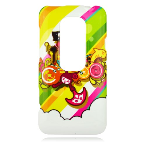 Talon Phone Case for HTC EVO 3D - Pirate Bay - Sprint - 1 Pack - Case - Retail Packaging - Green, Yellow, and Pink (Sprint Htc Evo 3d Phone Covers)
