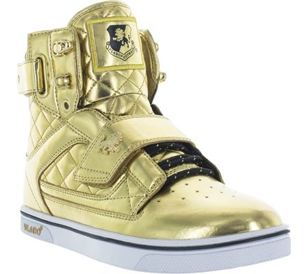 Vlado Footwear Men's Atlas 2 Microfiber & Cordura High Top Burgandy/White Sneakers Gold genuine for sale 6fD8tSwZV7