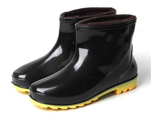 Botas De Lluvia Altas Antideslizantes De Los Zapatos De Goma Del Tobillo Corto Para Hombre Adultos C