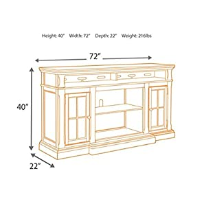 Ashley Furniture Signature Design - Roddinton TV Stand - 74 in - Rectangular - Dark Brown
