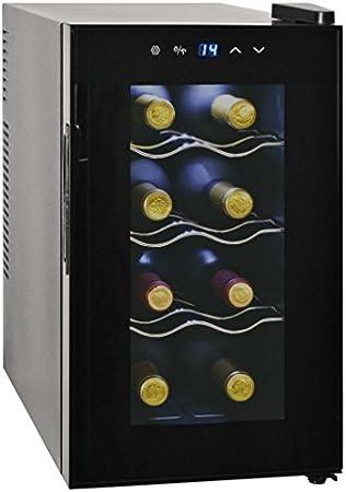 vidaXL Vinoteca de 8 Botellas 25 L Pantalla LCD Electrodoméstico Nevera Vinos