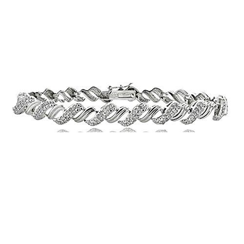 1ct Diamant avec diamant bracelet de tennis de San Marco