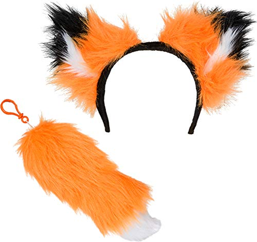 Orange Woodland Fox Ear and Tail Costume