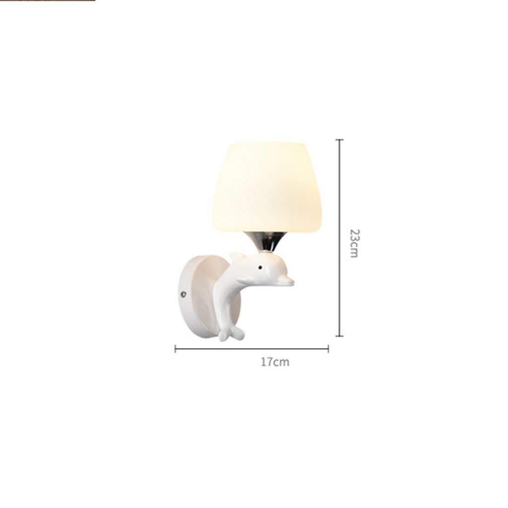 DSJ Wandleuchte Wandleuchten Hängeleuchten Moderne Einfache Warme Kinder Schlafzimmer Nachttischlampe Nachttischlampe Nachttischlampe Creative mit Einem Dekorativen Harz Dolphin Wandleuchte B07G7VCRVY   Qualität zuerst  e7b600