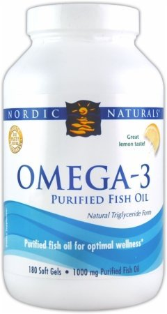 Nordic Naturals Omega-3 purifiée huile de poisson, 1 000 mg, 120 Gels mous