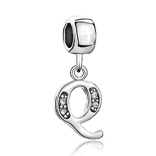 Alphabet Letter Initial Crystal Bracelets