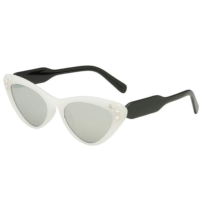 UKLoving gafas de sol mujer polarizadas UV400 - gafa de sol mujer baratas polarizadas - Moda mujer ojo de gato Sombra Gafas de sol con diamantes integrados: ...