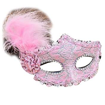 Máscara veneciana negro / blanco para mujer - Perfecto para carnaval, carnaval y baile de