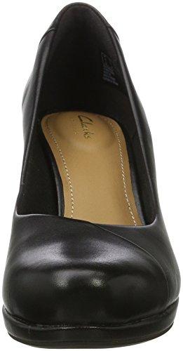 Clarks Carol black Noir Leather Femme Escarpins Chorus 77n4r8a