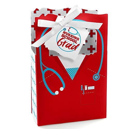 Nurse Graduation - Medical Nursing Graduation Party Favor Boxes - Set of 12 -