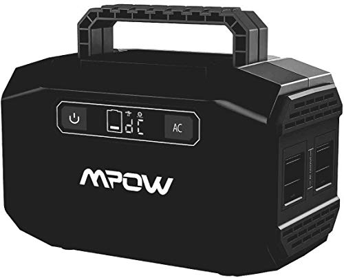 Portable Power Station 167Wh 45000mAh Portable Power Supply Lithium Battery Backup with 2 AC Outlets(250W Peak),2 USB &3 DC Ports Rechargeable Solar Camping Generators