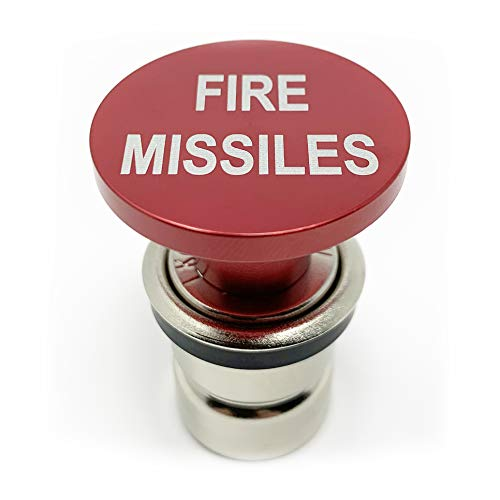 Fire Missiles Button Car Cigarette Lighter by Citadel Black – Anodized Aluminum, 12-Volt Replacement Accessory w/Safety…