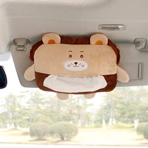 NancyMissY 漫画のティッシュボックス、漫画の動物の自動ティッシュボックスぶら下げポンピングバッグカーシートティッシュホルダー収納ボックス車のティッシュボックス
