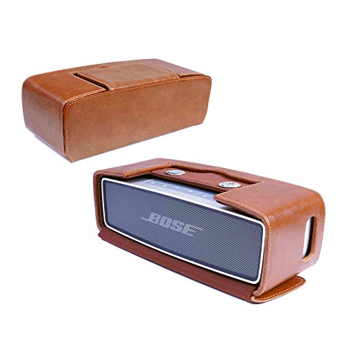 Tuff Luv Vintage Genuine Leather NFC Travel Case for Bose Sound Link Mini/Mini II with NFC Tag - Brown