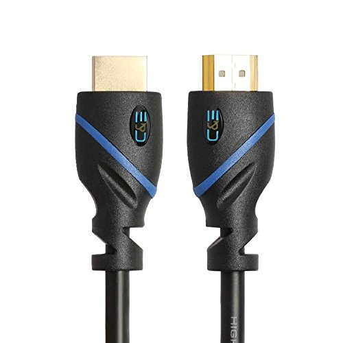 20ft (6M) High Speed HDMI Cable Male to Male with Ethernet Black (20 Feet/6 Meters) Supports 4K 30Hz, 3D, 1080p and Audio Return CNE518787 (2 Pack)