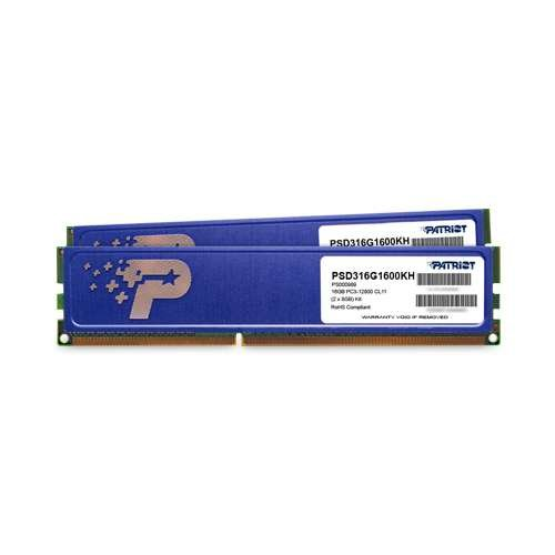 Patriot Memory Signature DDR3 16GB (2 x 8GB CL11 PC3-12800 (1600MHz) DIMM Kit PSD316G1600KH by Patriot (Image #2)'