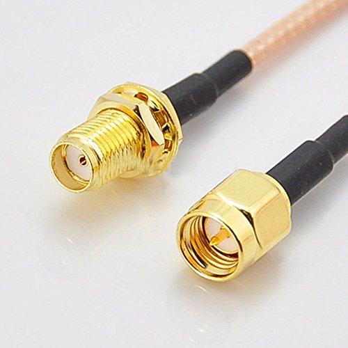 Generic 3 feet SMA Male to SMA Female Bulkhead Crimp (Sma Jumper Cables)