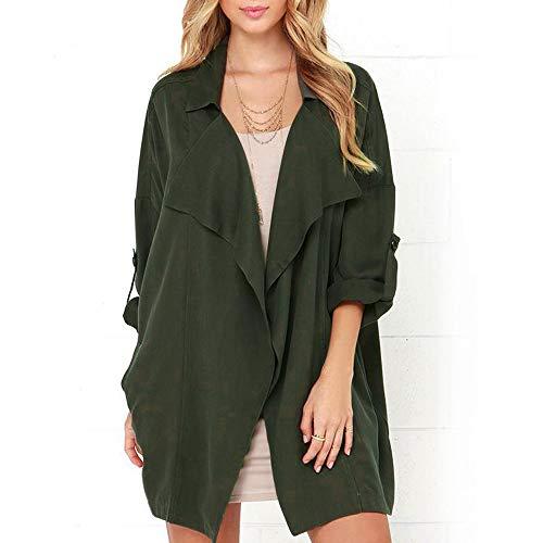 Women Cardigan, Laimeng_ World Women Rolled Long Sleeve Waterfall Cardigan Outwear Jumpers Jacket Coat Top (Jacket Cashmere Track)