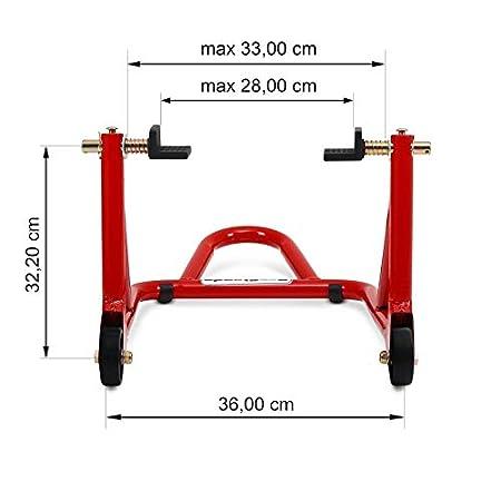 MT-03 FZR 600// R FZR 1000 FZ8 B/équille arriere ConStands Universal rouge pour Yamaha FZ6// Fazer// S2 MT-01