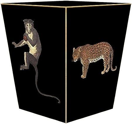Marye Kelley Wb9 Leopard Zebra Monkeys Wastepaper Basket Home Kitchen Amazon Com