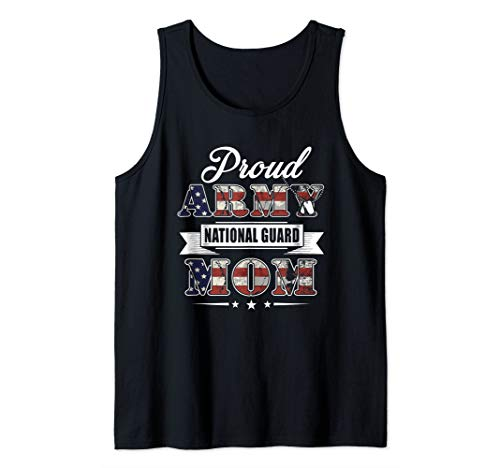 Proud Army National Guard Mom T-Shirt U.S. Military Gift Tank Top
