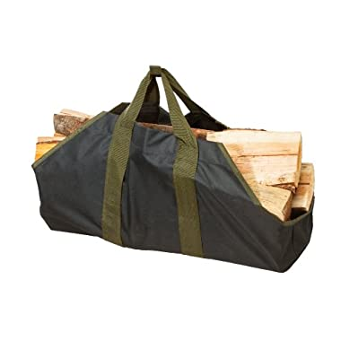 Heavy Duty Canvas Firewood Log Tote By SC Lifestyle