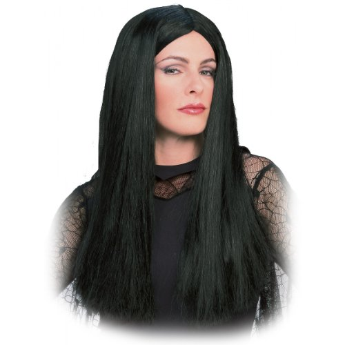 Costume Set Family Addams (Morticia Addams Wig Costume)