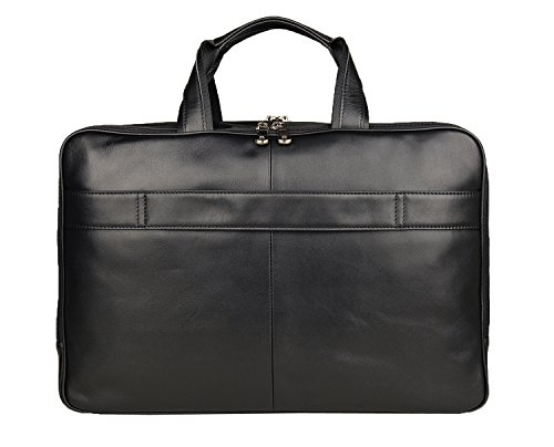 Texbo Men's Genuine Leather Business Trip Briefcase Large Bag Fit 17'' Laptop by Texbo (Image #3)