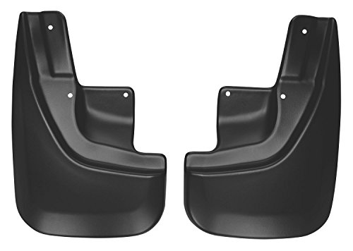 Husky Liners 58101 Black Custom Mud Guards Front Mud Guards Fits 2011-18 Laredo//Overland, 2017-18 Jeep Grand Cherokee Trailhawk