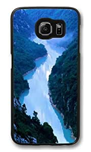 Blue Canyon Polycarbonate Hard Case Cover for Samsung S6/Samsung Galaxy S6 Black