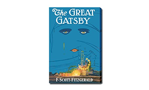 The Great Gatsby - Classic Book Art Set 2 - 30x20 Gallery Wrapped Canvas Wall - Frame Great Gatsby