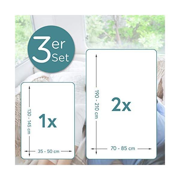 41pJRAsuBQL Beeke® Premium Spannbettlaken Wohnmobil [3 teilig] - Multi-Stretch Bettlaken für Wohnwagen-Heckbett [Made in Germany…