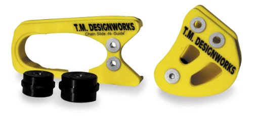 T.M. Designworks Chain Slide-N-Guide Kit for Stock or Aftermarket Arms - Yellow SCP-46-YL