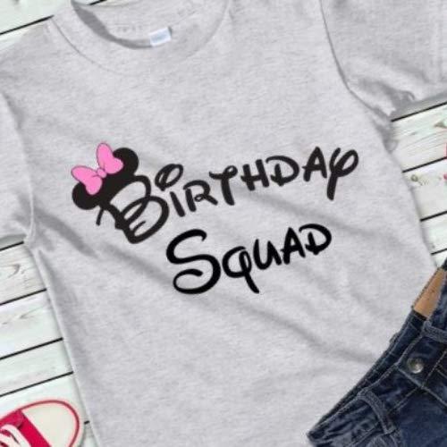 Amazon Ladies Birthday Squad Shirts Disney Party Favor