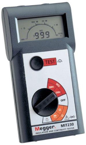 Megger MIT230-EN Insulation Tester, 1000 Megaohms Resistance, 250V,...
