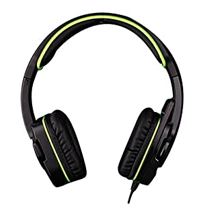 Sades SA708 Stereo Gaming Headset HIFI Bass Headphone with Microphone and Volume Control for PC/Laptop/Cellphone (Blue+Black)