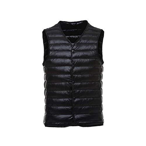 Épaule Bas Black Vers V Hommes Mince neck silver Adong l Doublure Portable Veste Le Gilet 1qxgtwP