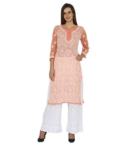 Indiankala4U Damen Kleid Pfirsich frvBmU32T - ally.glass-koffer ...