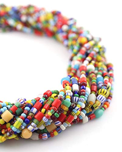 - Small Vintage Christmas Beads, African Love Beads, Czech Glass Seed Beads, Multicolor Spacer Beads, Boho Jewelry Supply, 2-3mm, 34