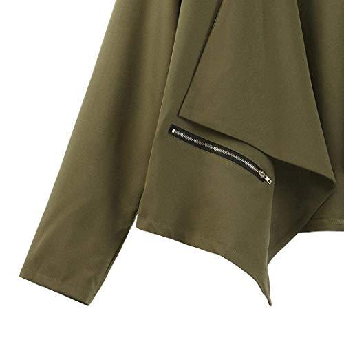 Asimetricas Primavera Cazadoras Prendas Relaxed Casuales Retro Outwear Tejido Exteriores Otoño Abrigo Sólido Moda Cardigan Manga Largo Gn Mujer Abierto Color 5Zq6ww