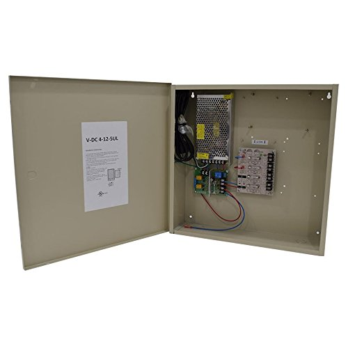 Access Control 12V DC Power Supply, UL, 4 Outputs 12 Amps, w/Fire Alarm Interface